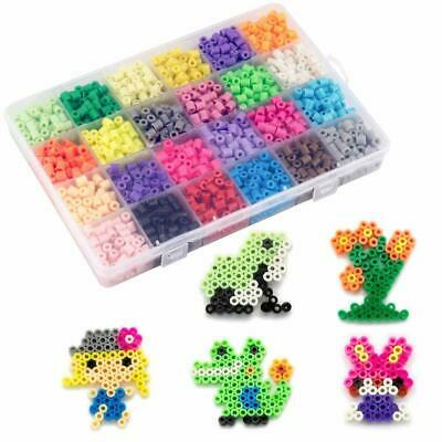 UK 5mm Water Fuse Beads Super Refill 24 SEPARATE COLORS Packing