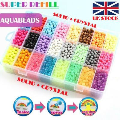 NEW 3000-5000 SUPER REFILL Aqua Water Fuse Beads 24 SEPARATE Color Packing