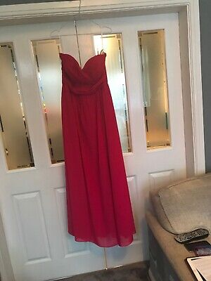 Social Bridesmaids Dress Size 14 Bright Pink (lot246)