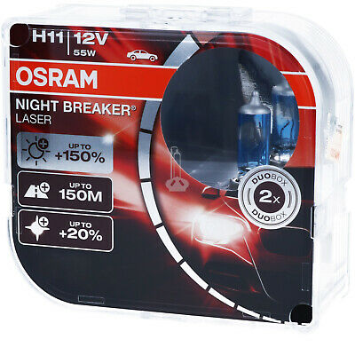 OSRAM H11 Night Breaker LASER Next Generation 150% mehr Helligkeit Power DUO BOX