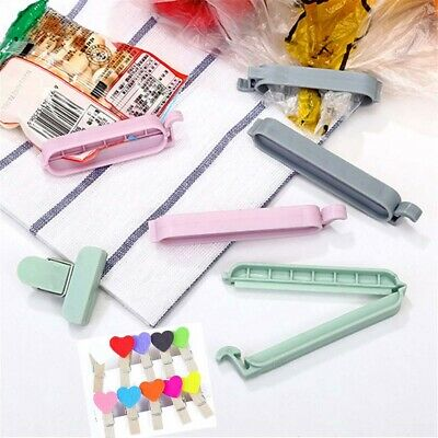 Plastic Home Practical Snack Bag Sealer Sealing Clamp Kitchen Tool Food Clips