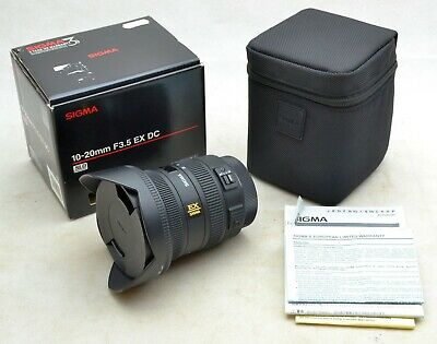 Sigma 10-20mm F3.5 EX DC HSM Zoom Lens for Canon BOXED FREEPOST