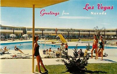 c1950s The Swimming Pool at the Dunes Hotel, Las Vegas, Nevada Postcard