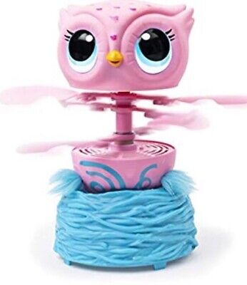 Owleez 6053359 Flying Baby Owl Interactive Toy with Lights and Sounds (Pink), fo