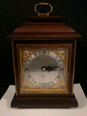 Elliott London Mahogany Bracket Mantel Clock Garrard Regent St London works good