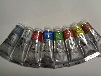 WINSOR & NEWTON ARTISTS WATERCOLOUR 14ml tubes 7 assorted colours