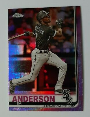 Tim Anderson 2019 Topps Chrome Pink Refractor! Chicago White Sox