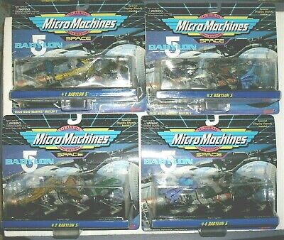#1-4 Babylon 5 Micro Machines Collections 1994 Mint