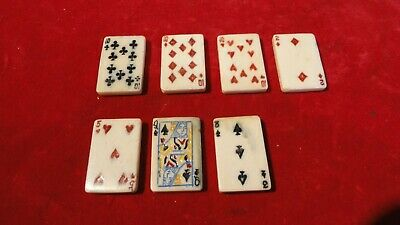 Great Civil War Era Playing Card Faces On Steer Bone Miniature Cards