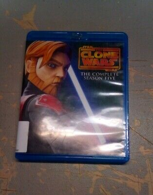 Star Wars: The Clone Wars - The Complete Season 5 (Blu-ray Disc, 3 Disk Set)