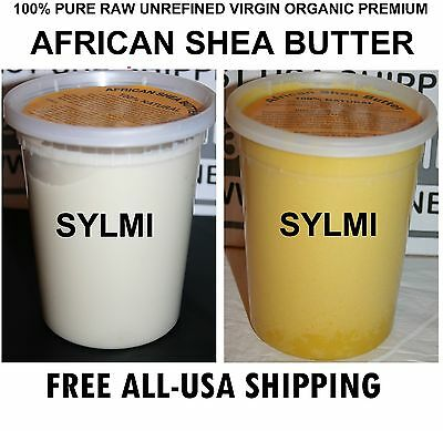 2xTubs Each 32oz/2 Lb RAW AFRICAN SHEA BUTTER ORGANIC UNREFINED Total: 4Lbs/64oz