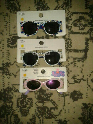 Brand New 3 Pairs M&S Sunsmart + 1 Peppa Pig Kids Sunglasses 100% UV Protection