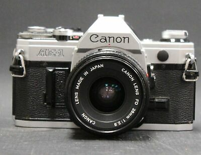 CANON AE-1 SLR Camera With Canon 28mm f/2.8 FD Mount Lens  - D33