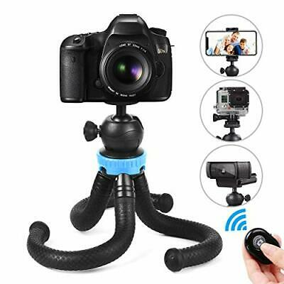 Phone Tripod, Foaber Flexible Portable Travel (Blue Updated Version (2019 New))