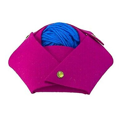 SYL Artisan Origami Snap-It Hexagon Felt Bowl (Fuchsia)