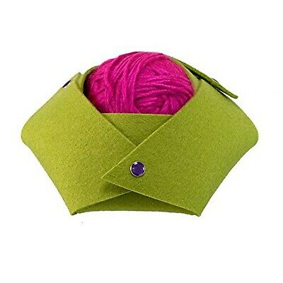 SYL Artisan Origami Snap-It Hexagon Felt Bowl (Lime)