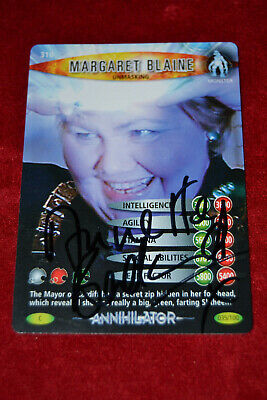 Doctor Who Trading Card Signed by Annette Badland