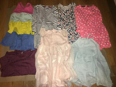 Girls Dress Clothes Bundle 2-4 Years - 6 Dresses & 1 Top - Mango Mothercare 2-3