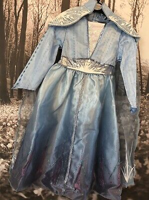 Disney Frozen 2 II Elsa Costume Dress Up Complete Outfit Age 7-8Years New Movie