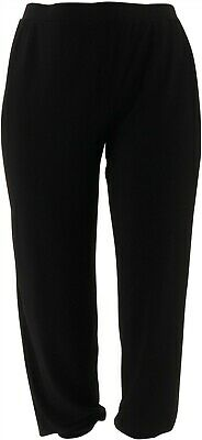 Lisa Rinna Collection Knit Cropped Jogger Pants Black 1X NEW A341719