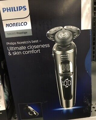 Philips Norelco S9000 Prestige Qi-Charge Electric Shaver Silver/Chrome NIB