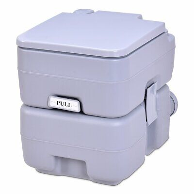 5 Gallon 20 L Outdoor-Indoor Potty Commode Portable Flush Toilet