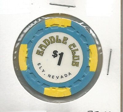 1975 $1 Saddle Club Chip- Ely, Nevada***Small Crown