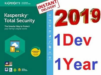 KASPERSKY Total Security 2019 1 Pc 1 Year Device-The Most Powerful Protection !⚡