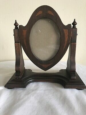 "Vintage Seth Thomas Inlay Wood Clock Swivel Frame 9.5"" Tall-Frame Only"