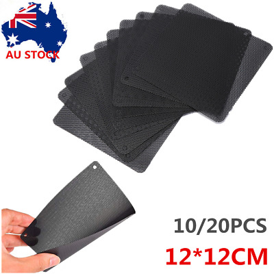 10/20X PVC Black PC Cooler Fan Dust Filter Dustproof Case Cover Computer Mesh AU