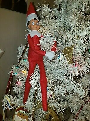 *NEW Plush Elf A Christmas Tradition Blue Eyes Boy Doll only red boy