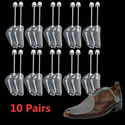10X Pairs Of Men Plastic Shoe Trees Maintain Shape Shoes Footwear Stretcher UK