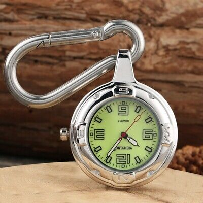 Fashion Steel Case Luminous Dial Quartz Pendant Pocket Watch for Men Women