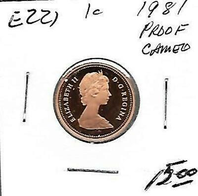E221 CANADA 1c - 1 CENT COIN 1981 PROOF GRADE, CAMEO DESIGN, CHARLTON $15.00