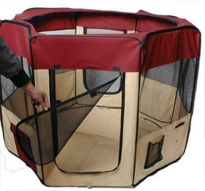 """60""""Pet Dog Kennel Fence Puppy Soft Playpen Exercise Folding Crate W-Bag Zip"""