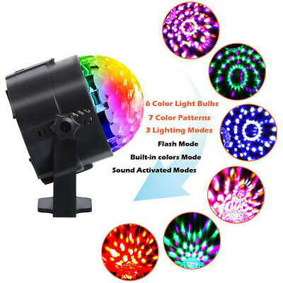 USB RGB LED Disco Ball DJ Party Light Effect Strobe Remote Auto Sound Activated