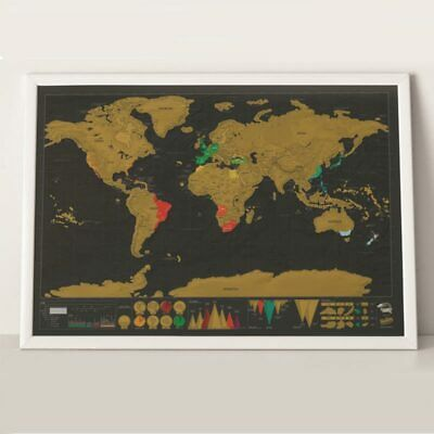 Deluxe Scratch Off Poster Personalized Travel Vacation World Map 42cm*30cm