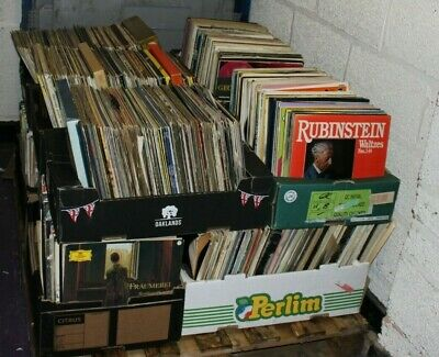 "Job Lot Pallet Approx 1200+ Mixed/Unsorted 12"" Vinyl Records (Hospiscare)"