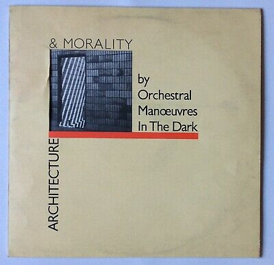 OMD Orchestral Manoeuvres In Dark Architecture & Morality Yellow 1st issue UK LP