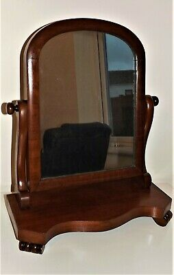 Antique Victorian Solid Wood Mahogany Table Top Dressing Mirror~With Tilting