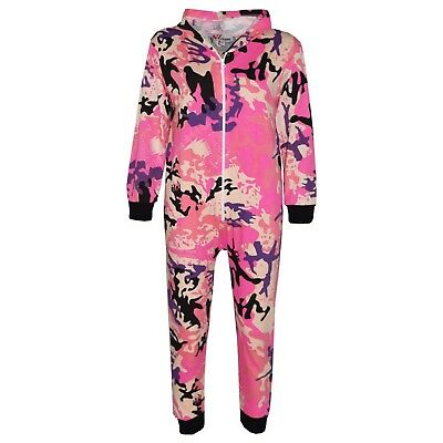 Kids Girls Pink Designer's 100% Cotton Camouflage A2Z Onesie One Piece Jumpsuit