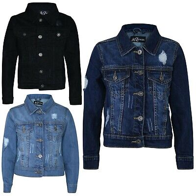 Kids Boys Denim Designer Jacket Ripped Jeans Fashion Jackets Coat Age 3-13 Years