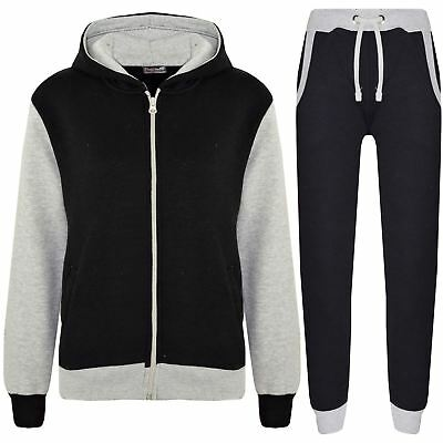 Kids Tracksuit Boys Girls Fleece Hooded Hoodie Bottom Jogging Suit Jogger 2-13 Y