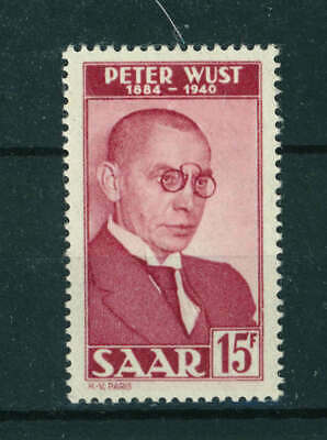 Germany Saar 1950 Death Centenary of Peter Wust stamp. MNH. Sg 286.