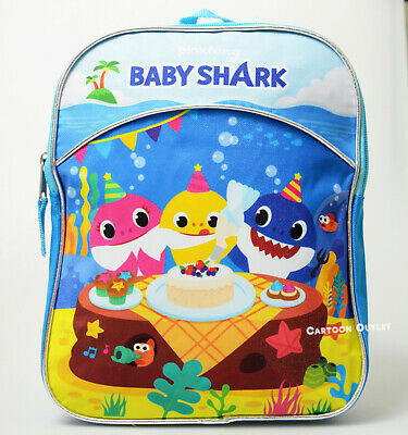 Baby Shark Gift Small Backpack Mini Bag Boy Girl School Travel Mochila Pinkfong