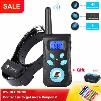 Two in One Automatic Anti Bark 1500ft Remote Pet Dog Training Electric Shock