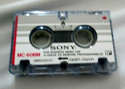 Sony MC60 BM Micro Cassette Audio Tape - answerphone recording dictation