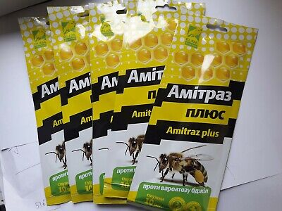 100 Strips. Amitraz plus treatment of varroatosis bees Varroa Imker. Beekeeper