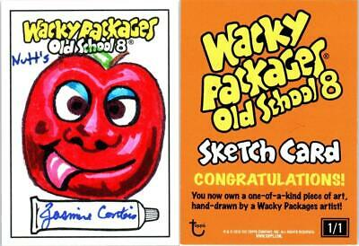 2019 Wacky Packages Old School 8th Series Sketch NUTTS by Jasmine Contois 131