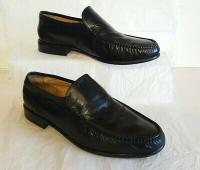 Loake Black Leather Moccasin Loafers,Uk 8.5,Really Lovely Condition